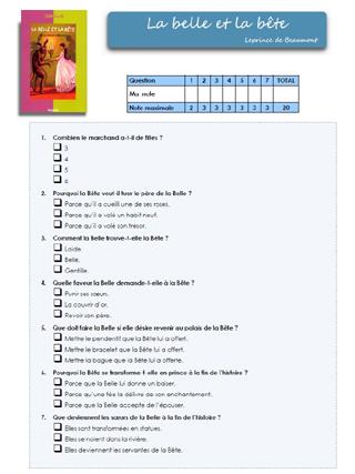 La Belle et la Bête - 6ème - Lecture - Conte - Pass Education